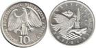 Монета 10 марок 1998 год Германия (350 лет подписания Вестфальского Мирного Договора) серебро
