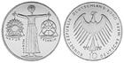 Монета 10 марок 2000 год Германия (Всемирная выставка ЭКСПО 2000) серебро